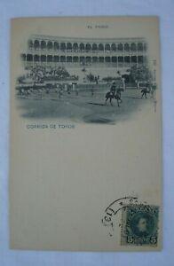 Postcard Spagna Corrida De Toros El Paseo viaggiata 1901