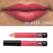 Maybelline Velvet Lipstick Chubby Stick Lip Pencil 420 In With Coral Pink