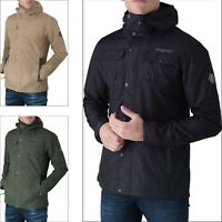Mens Crosshatch Windbreaker Waterproof Hooded Insulated Warm Jacket Rain Coat