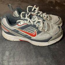 Boys Nike Shoes Sneakers Tennis Grey Silver Red 1.5 Little Boys