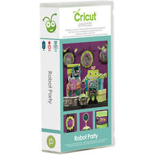 CRICUT *ROBOT PARTY* EVENTS CARTRIDGE *NEW* INVITATION FAVOR GIFT BOX NAME TAG..