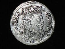 POLAND ,,3'' GROSCHEN  ,,trojak ''   SIGISMUND  III   (1587  -  1632 )