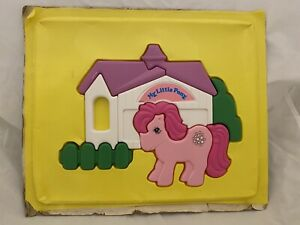 RARE VINTAGE 1984 My Little Pony Cotton Candy Plastic Puzzle With Tray G1