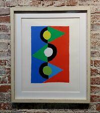 Sonia Delaunay - Triangles colorés -Original 1959 signed lithograph