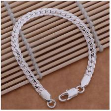 Men's Jewellery Bracelets & Bangles Sterling Silver Plated Link - 5mm