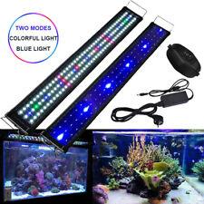 30-180cm LED Illuminazione Acquario Blu + Bianco & Vollspektrumlicht Lampada