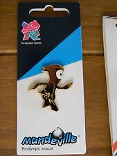 LONDON 2012 PARALYMPICS PIN BADGE GOLD MANDEVILLE MASCOT LOGO OLYMPIC GAMES