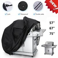 """BBQ Gas Grill Cover 57"""" 67"""" 75"""" Barbecue Waterproof Outdoor Anti-UV Protection"""