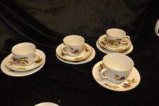Royal Worcester Fine Porcelain ~ Evesham 4 x cups / saucers / side plates