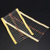 NEW 100 PCS 1/4W 0.25W 5% 1 K OHM Carbon Film Resistor Set