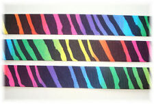 7/8 Rainbow Mod Zebra Tye Dye Multi Grosgrain Ribbon 4 Hairbow Bow