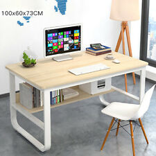 100cm Maple Computer Desk Writing Corner PC Table Laptop Home Office Workstation