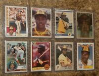 (8) Tony Gwynn 1983 1984 Topps Fleer Donruss Rookie 2nd Card lot Padres HOF RC