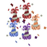 Animal Jam - Rare Party Hat Bundle ( 5 Hats! )