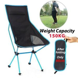 Lightweight Foldable Portable Camping / Fishing Chair 150kg Carrying Capacity