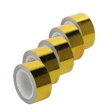 """5 Rolls Adhesive Reflective Gold High Temperature Heat Shield Wrap Tape 1""""x15 ft"""