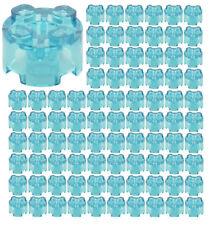 ☀️100x NEW LEGO 2x2 TRANS-LIGHT BLUE ROUND Bricks (ID 3941) BULK Parts Trans