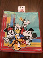 NEW Disney Original Buddies Reusable Tote Bag Mickey Minnie Goofy Donald Pluto
