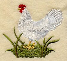 Large Embroidered Zippered Tote - Leghorn Hen A3215