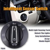 Light Sensor Switch AUTO HeadLamp Modified Control Module For Skoda Rapid