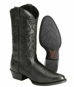 ARIAT 10002218 Heritage black embossed leather western cowboy rodeo boots 10 EE