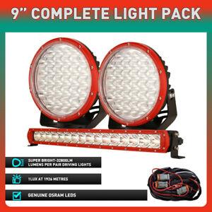 "New OSRAM 22 inch LED Light Bar + 9"" Round Driving Spot Lights Offroad Truck SUV"