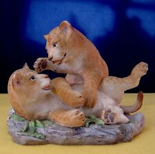 "Franklin Mint - ""Baby Animal Sculpture Collection"" ~ LION CUBS ~ 1997 Ltd. Ed."