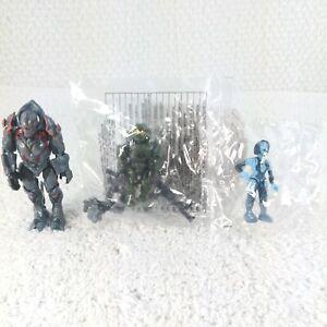 NEW! Mega Bloks Halo Master Chief, Cortana, Didact Mini Figures Set #97380 NIP!