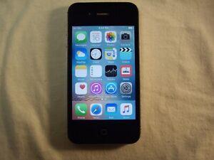 Black Apple iPhone 4s GSM Unlocked 32GB model A1387                          k6f