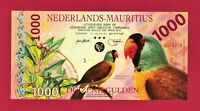 Colorful Netherlands Mauritius 1,000 Gulden 2000 UNC Polymer Birds Ships Flowers