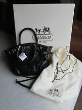 NWT Coach Mini Madison Sophia Black Sequin 18638 Tote Shoulder Hand Bag Purse