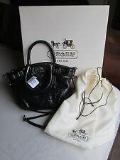 NWT Coach Mini Madison Sophia Black Sequin 18638 Tote Shoulder Hand Bag Purse