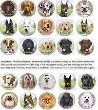 79 Popular Breeds Car Coaster Dog Puppy One Piece Fits Auto Cup Holder 2.5""