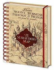 Official Harry Potter Marauders Map Hogwarts Notebook Lined A5 Film HP Gift