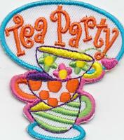 Girl Boy Cub TEA PARTY CUPS mom Fun Patches Crests Badges SCOUT GUIDE Iron