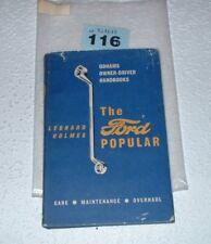 THE FORD POPULAR ODHAMS OWNER HANDBOOK. 1958