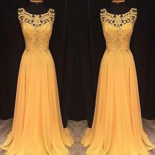Lace Long Chiffon Evening Formal Party Ball Gown Prom Bridesmaid Cocktail Dress