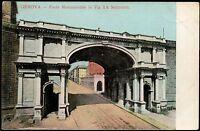 AX0222 Genova - Città - Ponte Monumentale in Via XX Settembre - 1912 postcard