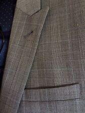 Para Hombre próximo cheque gris Príncipe de Gales 36R traje chaqueta.