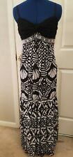NWT ECI New York Beaded Maxi Dress Black Size 4
