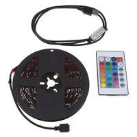 USB RGB 5050 LED Tira de Luz TV Iluminación Trasera Juego con Mando a Distancia
