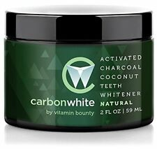 Carbon White Activated Charcoal Coconut Teeth Whitener - Removes Stains (2oz)
