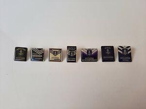 Bulk Lot, 7x Fremantle Dockers Member Pins, 2014 - 2020, Used, AFL Memorabilia