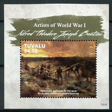 Tuvalu 2015 MNH WWI WW1 Artists of First World War Alfred Bastien 1v S/S Stamps