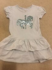 Mia Joy Joyfolie Blue Carousel Horse Sequin Dress 3t Little Girls EUC