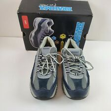 BRAHMA Amy Womens Size 8.5 Navy Blue Gray Leather Steel Toe Work Shoes Sneakers