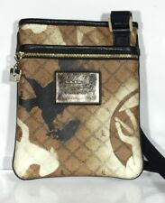 L.A.M.B. by Gwen Stefani Cross Body Purse Bag Brown Lamb Logo Adjustable PVC