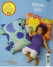PILLOW PALS SEWING PATTERN, From Ellie Mae Designs NEW