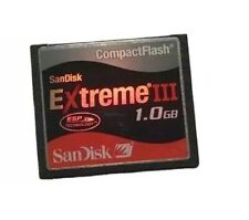 Genuine Sandisk Compact Flash Memory Card Extreme 1GB Tested Vgc