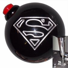 Black Superman Side Button shift knob for Dodge Chrys auto stk w/ adapter